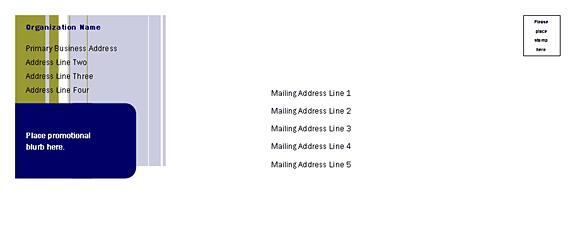 Direct Mail Set Envelope (stripes Design, For Desktop Printing)