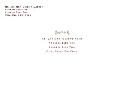 Wedding Invitation Envelope (renaissance Design)