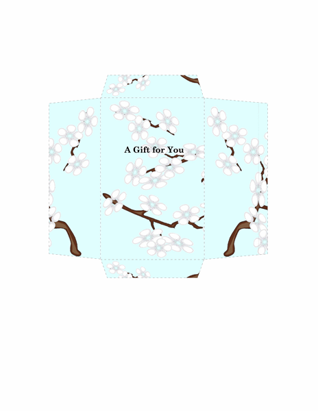 Money Envelope (blue Floral Design)