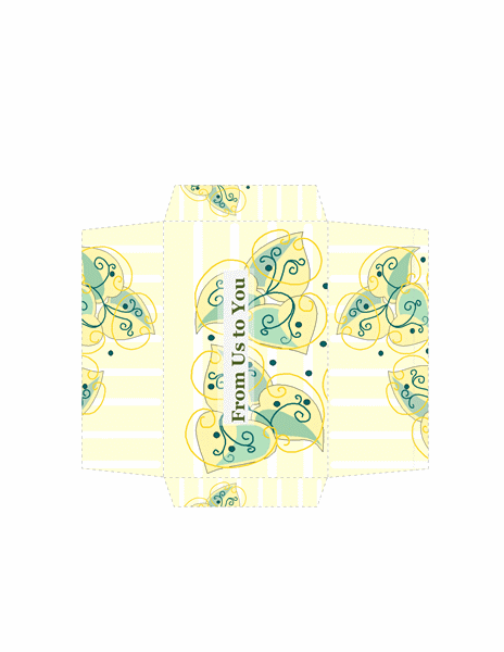 Money Envelope (gold Floral Design)