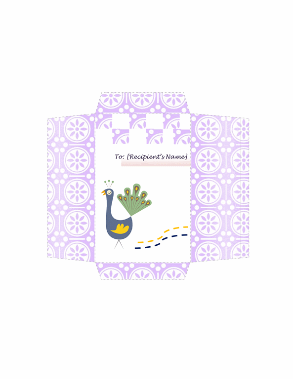 Money Envelope (peacock Design)