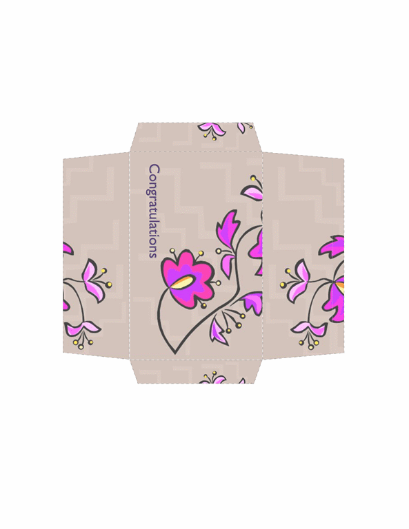 Money Envelope (floral Design)