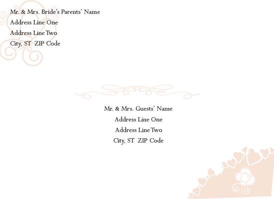 Engagement/bridal Shower Invitation Envelope (hearts Entwined Design)