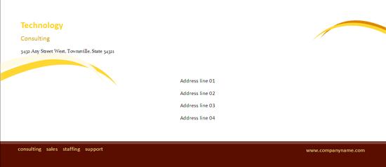 Business Envelope (burgundy Wave Design)