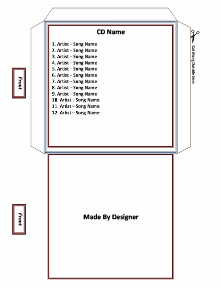 Cd Envelope Template