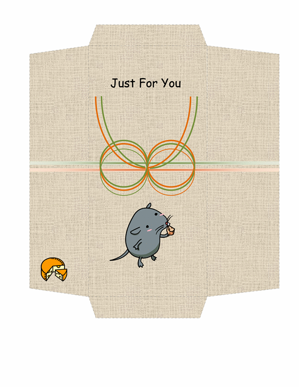 Money Envelope Template Free Download Cheese And Mouse Design