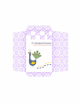 Money Envelope Template Word Peacock Design