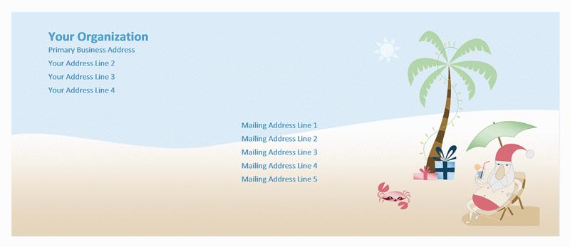 Envelope (summer Santa Design)