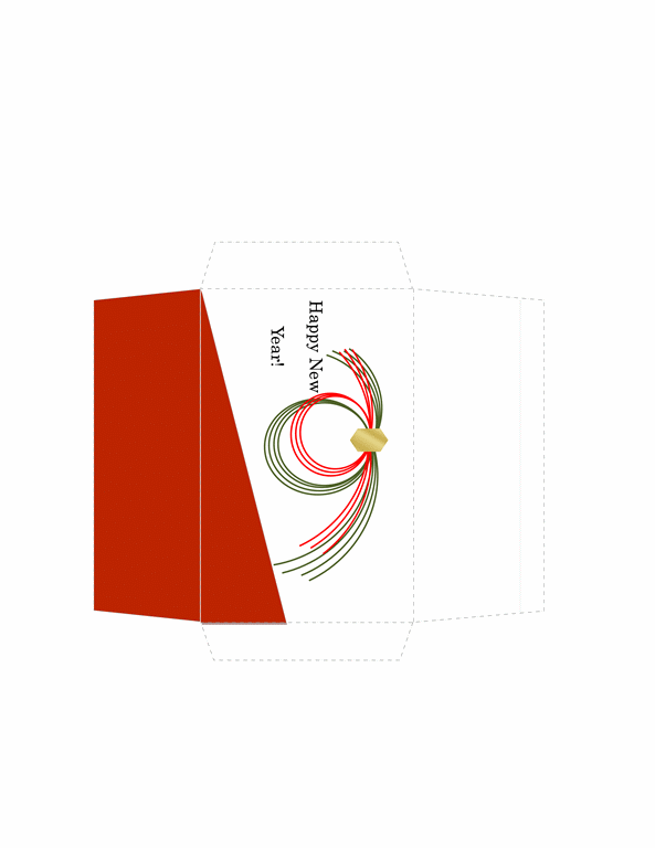 Money Envelope Template Free Download Red Theme