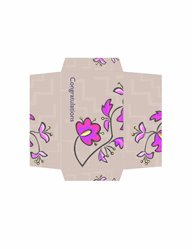 Money Envelope Template Word Floral Theme Design