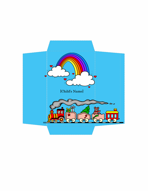 Money Envelope (toy Train Design)