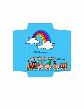 Money Envelope Train Template Free Download