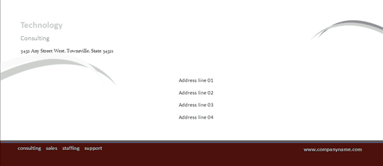 Download free business envelope burgundy wave design envelope download envelope template word 2007 business envelope burgundy wave design wajeb Choice Image