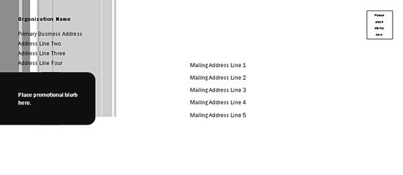 Envelope-template-word-2007- Direct Mail Set Envelope (stripes Design, For Commercial Printing)