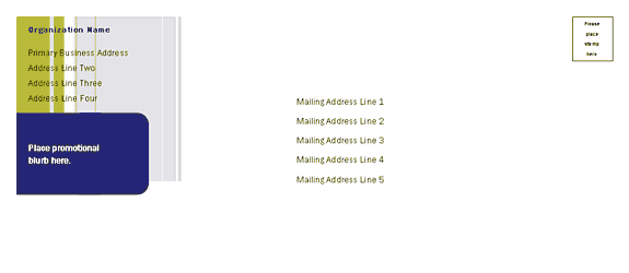 Envelope-template-word-2010- Direct Mail Set Envelope (stripes Design, For Desktop Printing)