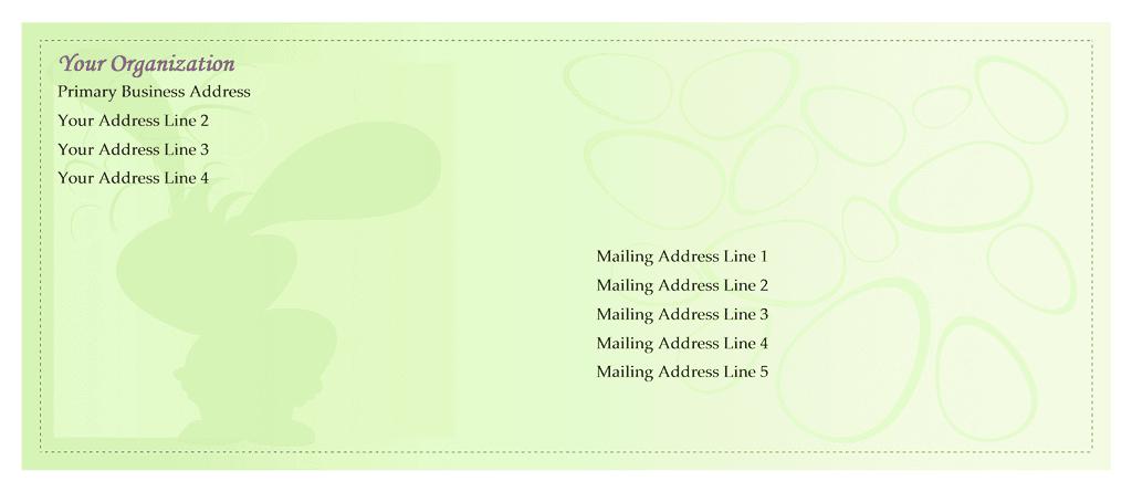 Envelope-template-word-2003- Easter Envelope