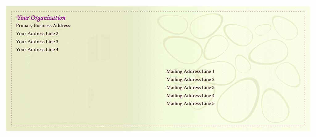 Envelope-template-word-2010- Easter Envelope