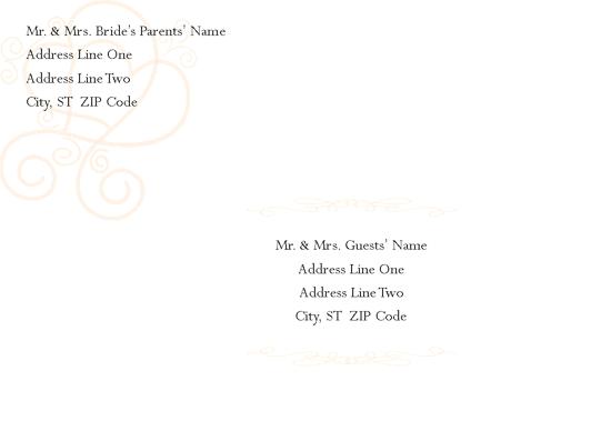 Envelope-template-word-2003- Engagement/bridal Shower Invitation Envelope (hearts Entwined Design)