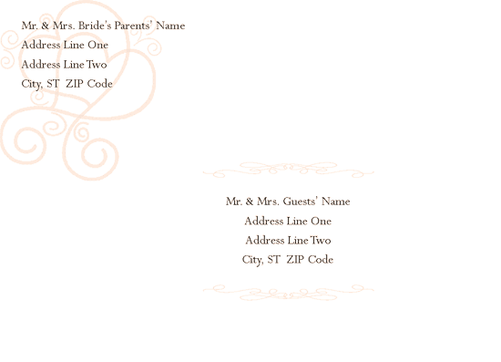 Envelope-template-word-2010- Engagement/bridal Shower Invitation Envelope (hearts Entwined Design)