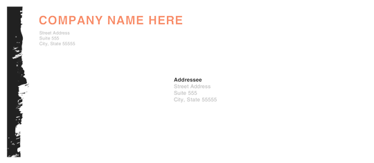 Download envelope edgy smudge design free envelope for Word 2013 envelope template