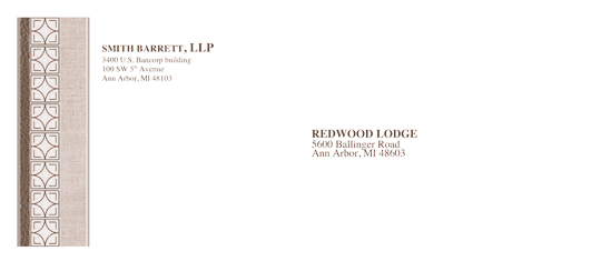Download free envelope legal chic design envelope for Word 2013 envelope template