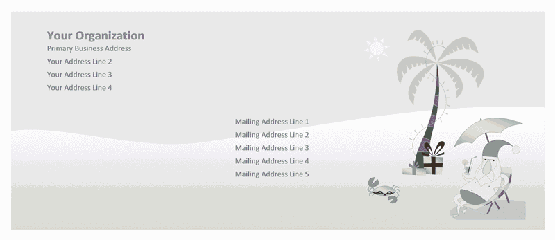 Envelope-template-word-2007- Envelope (summer Santa Design)