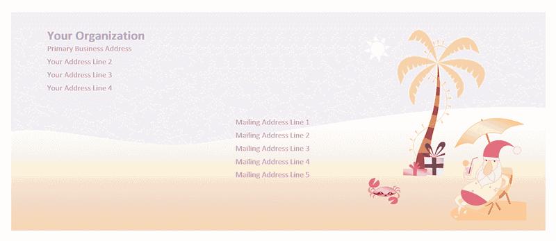 Envelope-template-word-2010- Envelope (summer Santa Design)