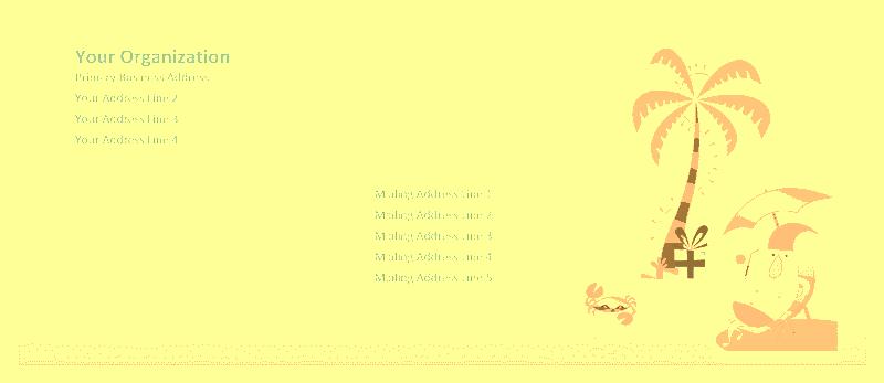 Envelope-template-word-2016- Envelope (summer Santa Design)