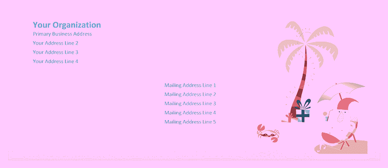 Envelope-template-word-download- Envelope (summer Santa Design)