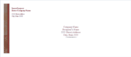 Download free envelope traditional elegance design for Word 2013 envelope template
