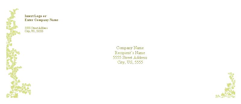Envelope-template-word-2003- Envelope (weathered Book Design)