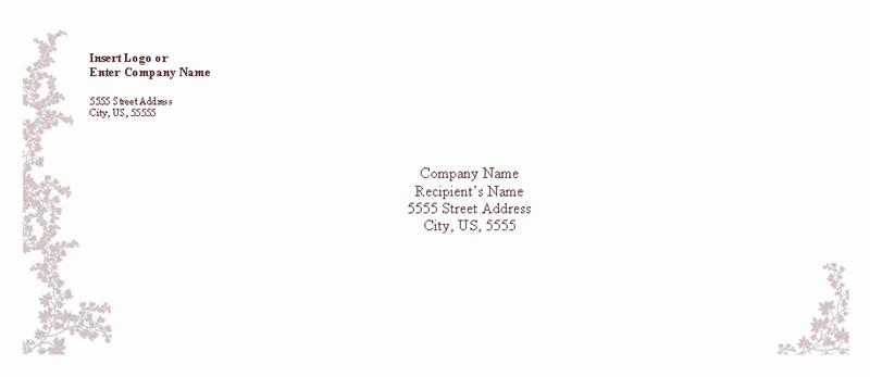 Envelope-template-word-2007- Envelope (weathered Book Design)
