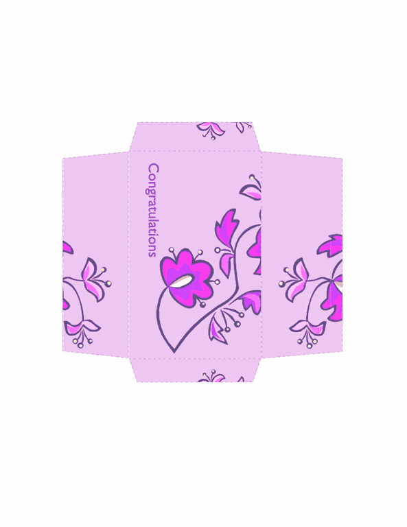 Envelope-template Word-2013- Money Envelope (floral Design)