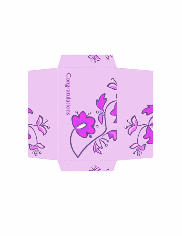 download money envelope floral design free envelope templates for
