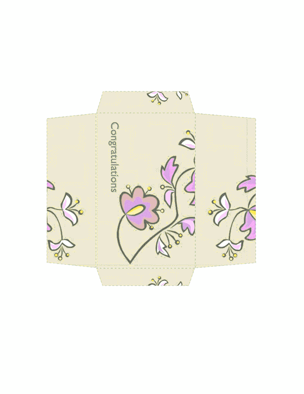 Envelope-template-word-2003- Money Envelope (floral Design)