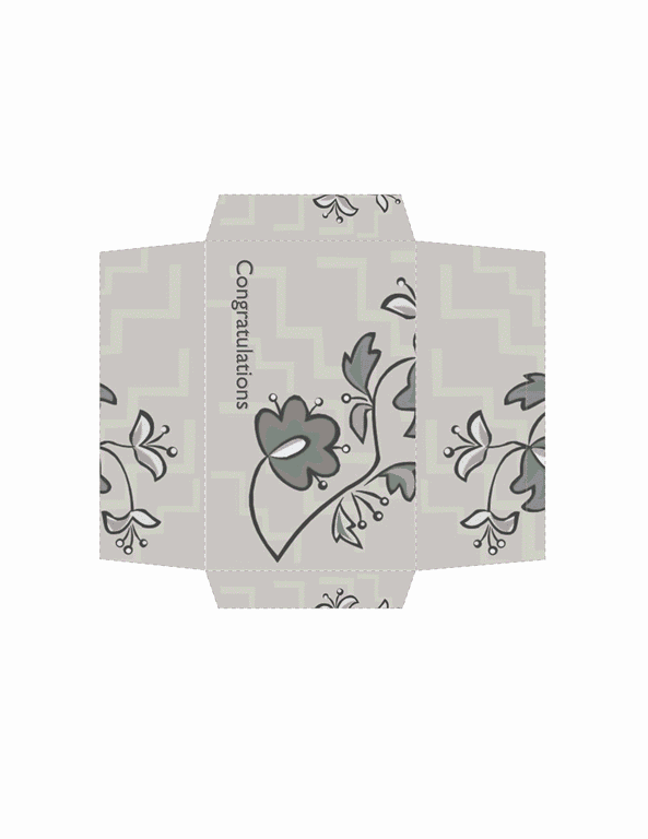 Envelope-template-word-2007- Money Envelope (floral Design)