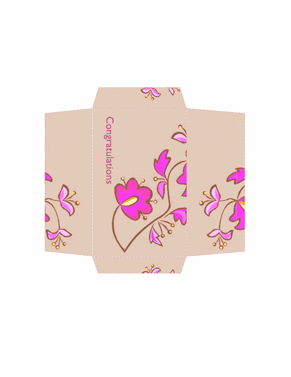 Envelope-template-word-2010- Money Envelope (floral Design)