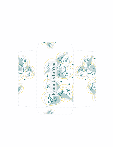 Download money envelope gold floral design free envelope for Envelope template word 2013