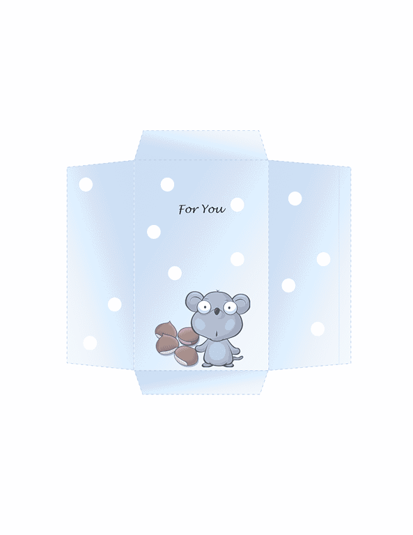 Envelope-template Word-2013- Money Envelope (mouse Design)