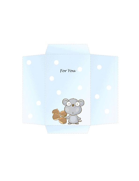 Envelope-template-word-2003- Money Envelope (mouse Design)