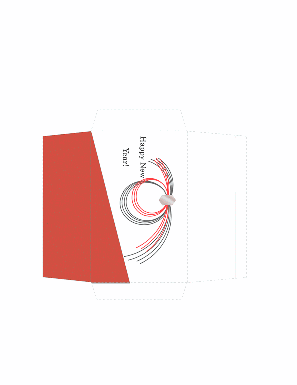 Download money envelope red traditional design free for Word 2013 envelope template
