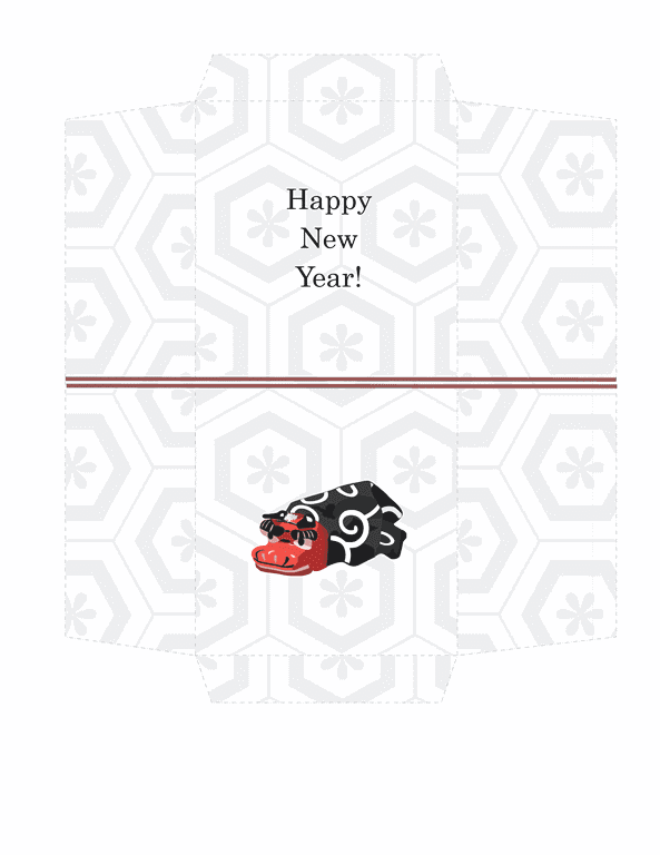 Envelope-template Word-2013- Money Envelope Simple Lion Design