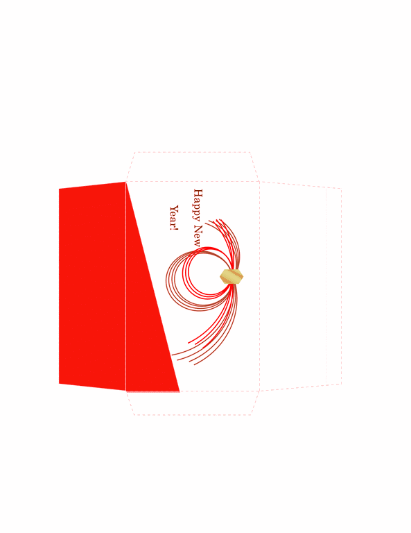Envelope-template-word-2010- Money Envelope Template Free Download Red Theme