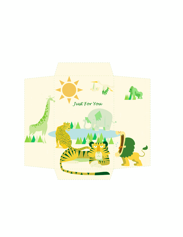 Envelope-template-word-2003- Money Envelope Template Word Animals Design