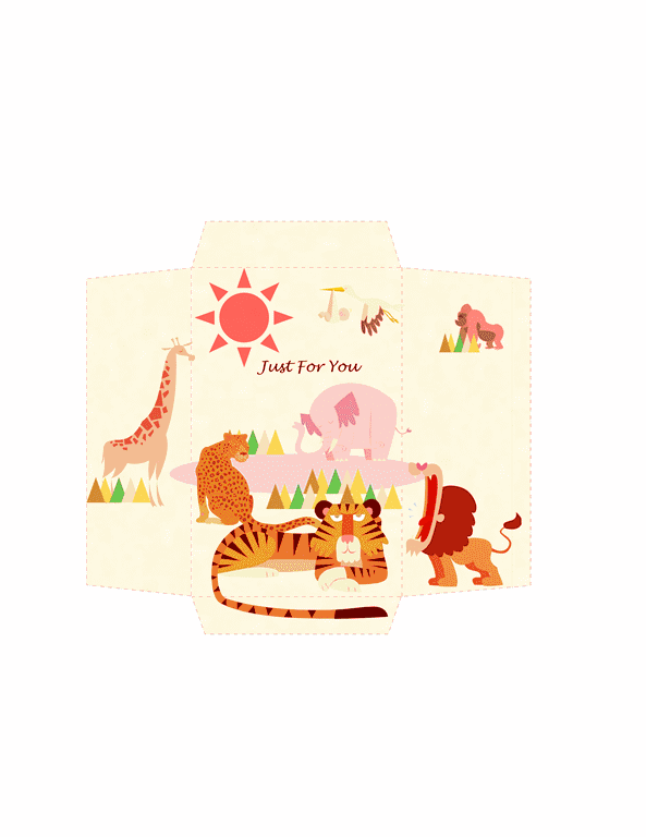 Envelope-template-word-2010- Money Envelope Template Word Animals Design