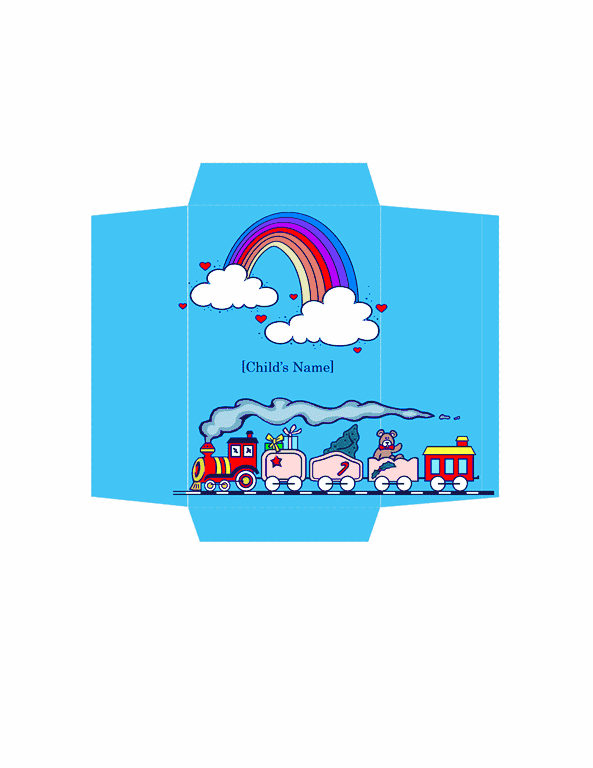 Download money envelope toy train design free envelope for Word 2013 envelope template