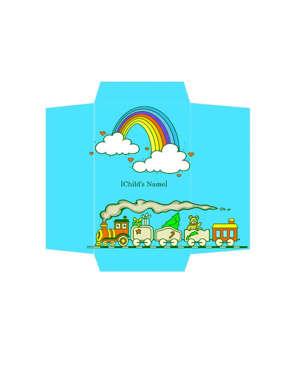 Envelope-template-word-2003- Money Envelope (toy Train Design)