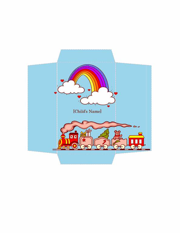 Envelope-template-word-2010- Money Envelope (toy Train Design)