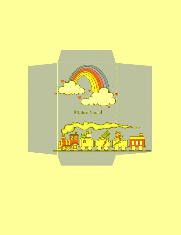 Envelope-template-word-2016- Money Envelope (toy Train Design)