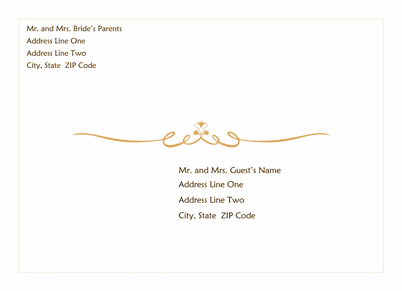 Envelopes For Wedding Invitations Templates